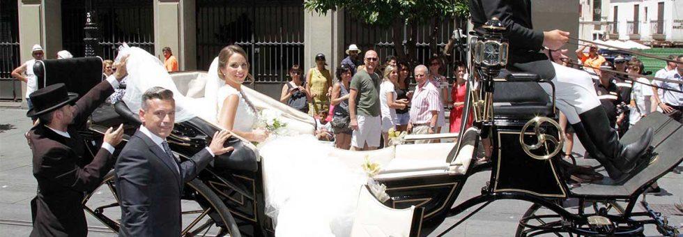 Alquiler de calesas para bodas